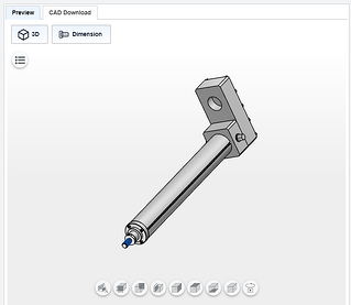 Download a 3D CAD Model of your custom electromechanical actuator.